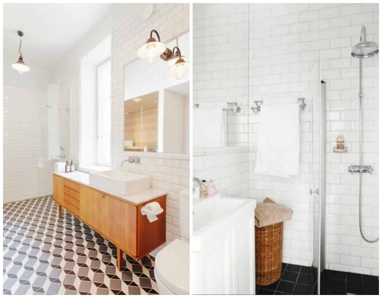 415 badkamers ergenstussenin - Deco witte tegel ...