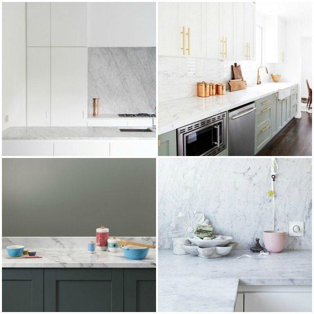 Keuken diy werkblad - Keuken wit marmer ...